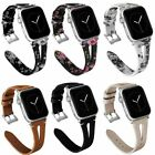 For iWatch Apple Watch Series 5/4/3/2/1 Leather Watch Bands Strap 38/40/42/44mm image