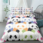 Cartoon Panda Duvet Cover Animal Bedding Comforter Cover PillowCase Twin