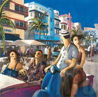 """24W""""x24H"""" VESPA IN MIAMI by DIDIER LOURENCO - FLORIDA STREETS CHOICES of CANVAS"""