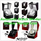 Automatic Single Dual Watch Winder Wood Display Box Storage Case Japan Motor US image