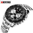 CURREN Men Quartz Watch Casual Stainless Steel Male Wristwatch Military Watches image