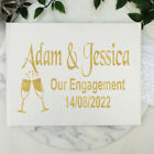 Engagement Guest Book Keepsake Album - White A5 - Made To Order