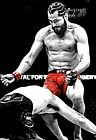 Jorge Masvidal vs Askren Flying Knee Art Poster (Fastest KO in UFC) 11x17 13x19