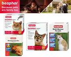 Beaphar Wormclear Spot On Multiwormer Treatment & Worming Granules For Cats