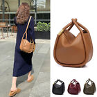 Small Mini Real Leather Oversized Edge Tote Bucket Shoulder Bag Day Evening Bag