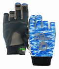 Fish Monkey Crusher Half Finger Jigging Glove - X or 2XL - Color: BLWTCAM - New