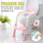 Toddler Toilet Chair Kids Children Potty Training Seat with Step Stool Ladder image