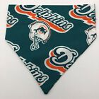 Miami Dolphins Dog Collar Cover Bandanna Scarf Non Choking Small