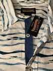 Cremieux Premium Denim Blue White Stripe Shirt Short Sleeve Big & Tall NWT$69.50