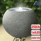 GARDEN WATER FEATURE WATER FOUNTAIN INDOOR OUTDOOR WATERFALL CASCADE LED PUMP