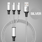 3 Pack Phone Charger Lightning Cable Charging Cord Heavy Duty for iPhone Samsung