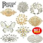 New Large Diamante Crystal Pins Back Brooch Vintage Rose Gold Spider Lot Bouquet