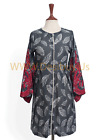 Agha Noor – Women's Stylish Long-Sleeved Kurti Gray