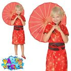 Kids Girls Geisha Costume Chinese New Year Oriental Book Day Fancy Dress Outfit