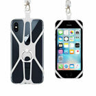 2 In 1 Cell Phone Lanyard Strap Case Holder With Detachable Universal Neckstrap