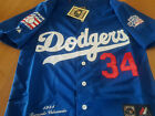 Los Angrles Dodgers #34 Throwback Fernando Valenzuela Majestic sewn Jersey Men's on Ebay
