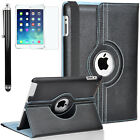 For iPad Air 1 2 iPad 9.7 Case 360 Rotating PU Leather Folio Smart Stand Cover