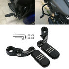 2X Black Footpegs Motorcycle Foot Pegs Footrest Clamps Fits For Harley Davidson