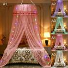 Mosquito Net Princess Girl Solid Canopy Bed Lace Mesh Hanging Netting Curtains image