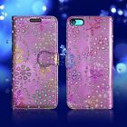 **For Apple iPhone 8S Leather Wallet Book Flip Stand Protection Phone Case Cover