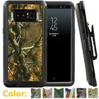For Samsung Galaxy Note 8 Shockproof Camo Case Cover Clip Fits Otterbox Defender