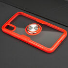 For iPhone Xs Max & XS & X Case Cover Magnetic Ring Holder Transparent Design