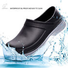 Mens Waterproof Non-slip Chef Nursing Shoes Slip-On Loafers Garden Safety Work