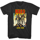 Kiss Love Gun Album Cover Men's T Shirt NYC Rock Band Concert Tour Merch Vintage image