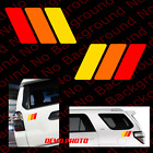 Racing Stripe Rainbow Vinyl Die Cut Decal Fits RETRO 4RUNNER Tacoma Tundra TY009
