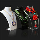JW AG Mannequin Jewelry Necklace Display Stand Pendant Holder Neck Model Sho