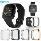 2Pack For Fitbit Versa 2/3/Sense Clear Soft TPU Case Screen Protector Full Cover