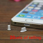 20 Sets Silicone Anti Dust Caps Earphone Plug Stopper For iPhone 5/5s/6/6 Plus