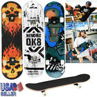 "31"" Complete Skateboard Adult Tricks Skate Board 7 Layer Maple Wood Deck Youths image"