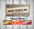 Personalised Chocolate Bar - Happy Fathers Day Present - Daddy - Dad - Gift