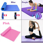 Yoga Fitness Mat Health Workout Pilate Keep Fit Non Slip Camping