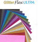 GlitterFlex  Ultra Iron-On Glitter Heat Transfer Vinyl HTV for T-Shirts 12""