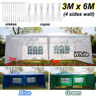 3x3m/3x4m/3x6m Gazebo Shade Waterproof Party Garden Awning Canopy Marquee Tent