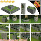 Outdoor Garden Gabion Planter Steel Rock-Stone Wall Basket Flower Plant Border