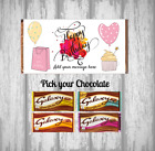 Personalised Chocolate Bar - Happy Birthday - Wrapper - Pink - Shopper - Gift