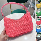 2020 Lightweight Small Mini Ruched Nylon Leather Strap Shoulder Bag Hobo Purse