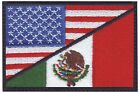 USA / Mexico Flag Embroidered Patch