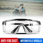 Motorcycle Safety Goggles Glasses Anti Fog Dust Lab Work Clear More quantity