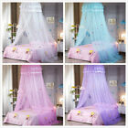 Round Dome Hung Bedding Mosquito Net Canopy Princess Lace Beds Tent Elegant Chic image