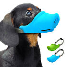 Dog Muzzle Soft Silicone Barkless Muzzle for Small Medium Dogs Pig Style Mouth