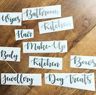 Silver Household Vinyl Stickers, Labels Decals Storage House, Mrs Hinch Organise