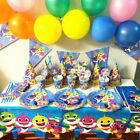 Baby Shark Birthday Party Tableware BLUE , cups . hats , napkins etc
