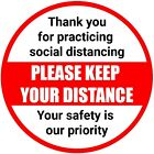 KEEP YOUR DISTANCE - SOCIAL DISTANCING SIGNS DURABLE Vinyl Sticker Virus