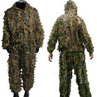 3D Leafy Lightweight Hooded Camouflage Ghillie Suit Breathable Woodland Hunting