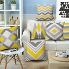 18''geometric Yellow Cushion Cover Square Pillow Cases Throw Home Sofa Decor New