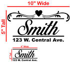 Mailbox Address Decal 10x5 And 4x2 For Door